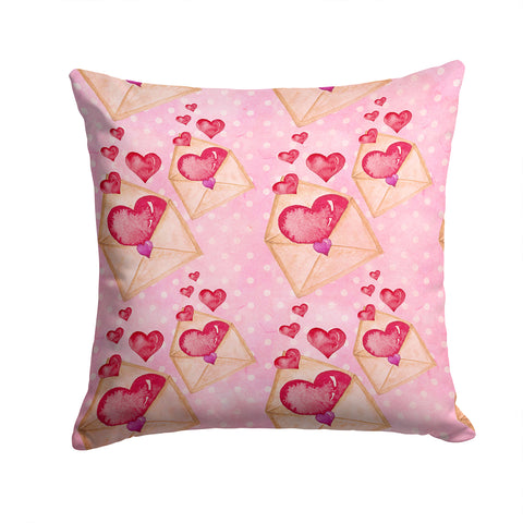 Buy this Watercolor Pink Love Letter Fabric Decorative Pillow BB7568PW1414