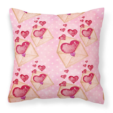 Buy this Watercolor Pink Love Letter Fabric Decorative Pillow BB7568PW1818