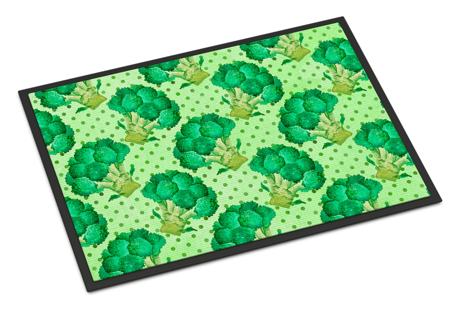 Watercolor Broccoli Indoor or Outdoor Mat 18x27 BB7570MAT by Caroline's Treasures