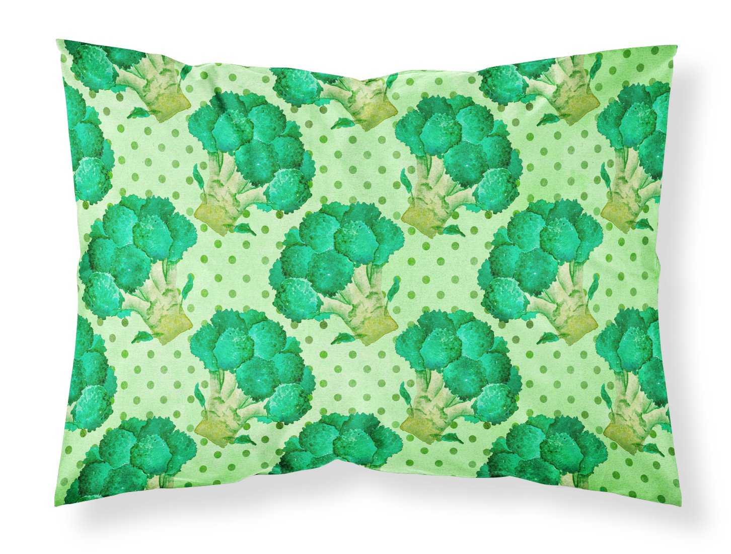 Watercolor Broccoli Fabric Standard Pillowcase BB7570PILLOWCASE by Caroline's Treasures