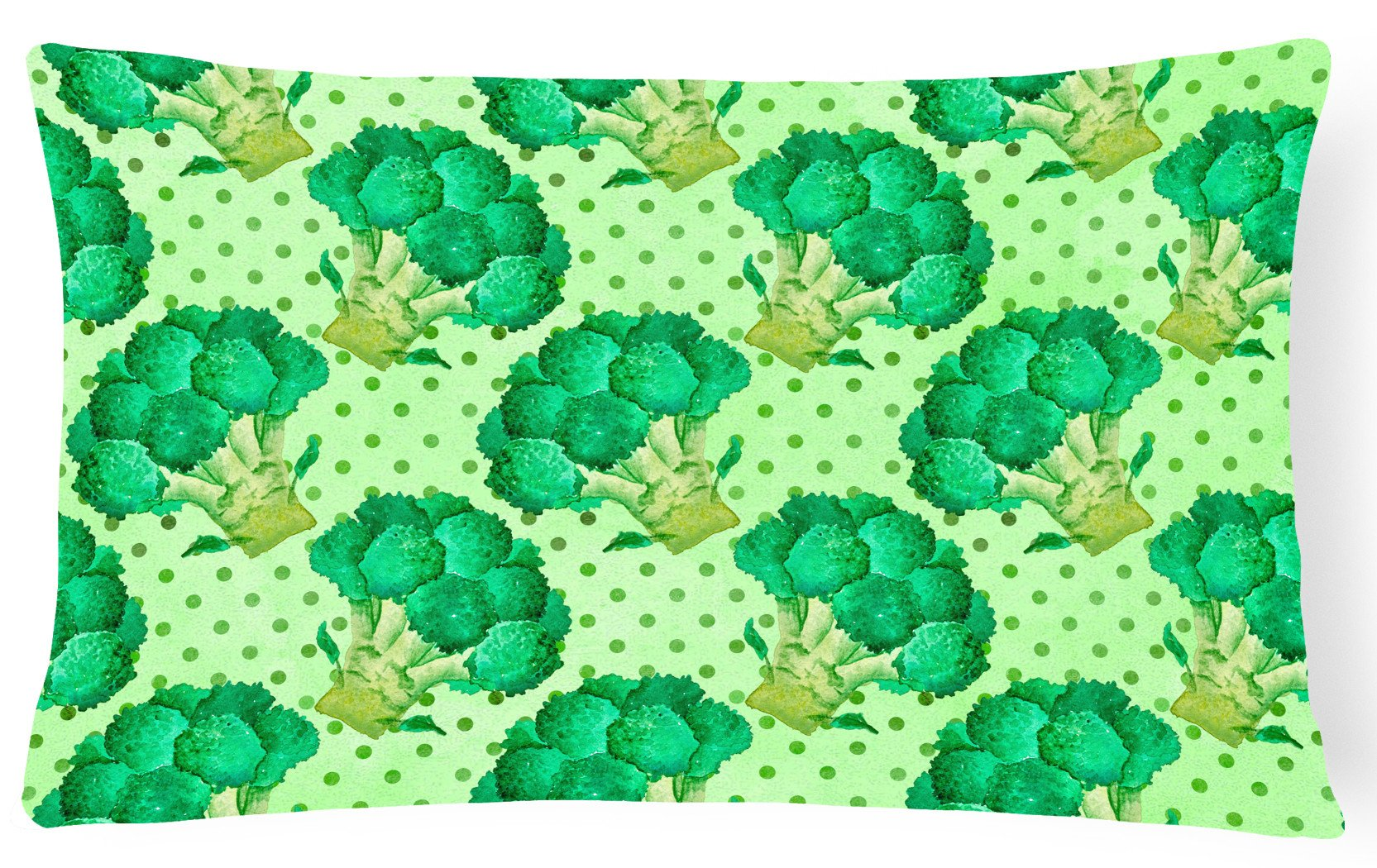 Watercolor Broccoli Canvas Fabric Decorative Pillow BB7570PW1216 by Caroline's Treasures