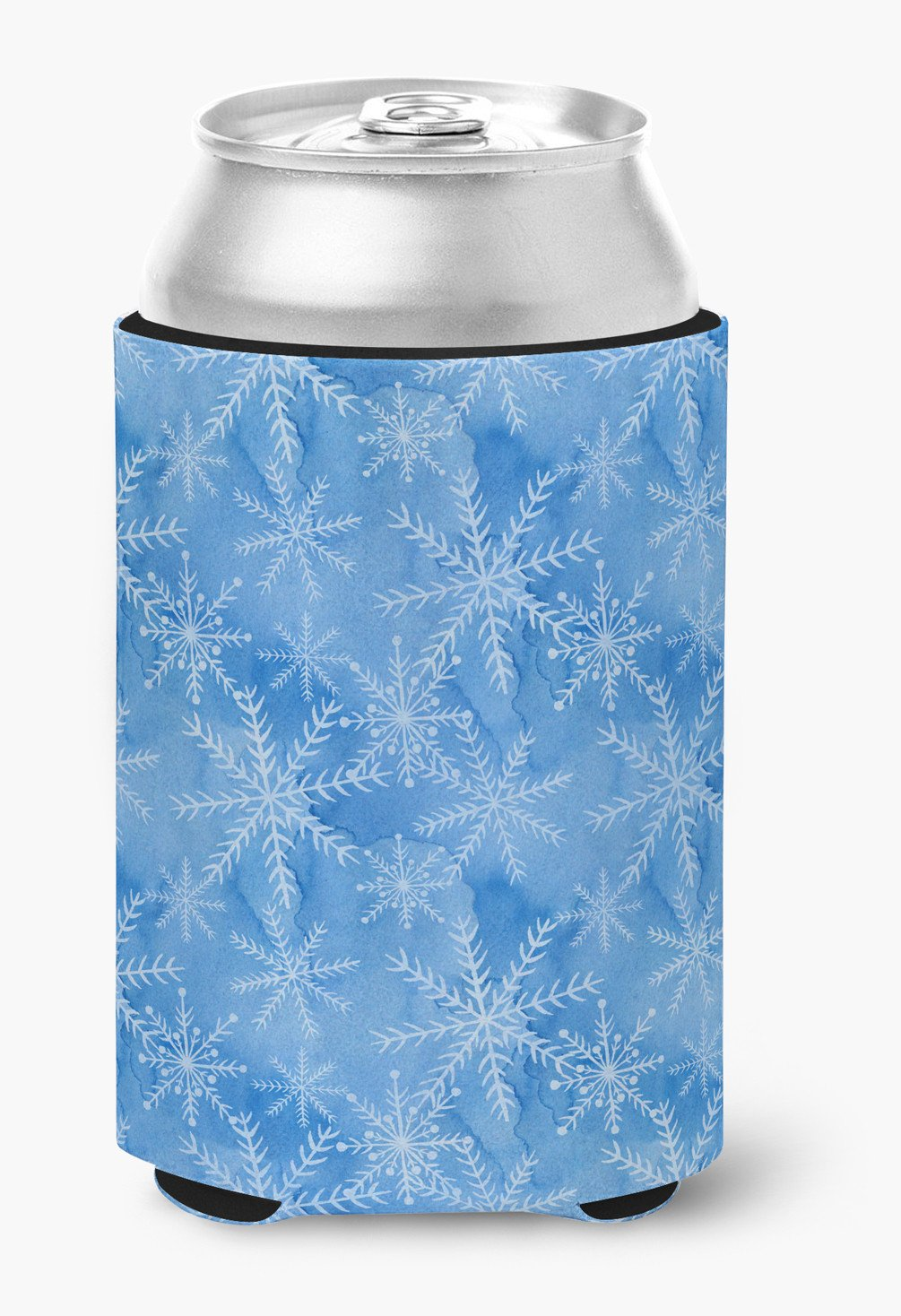 Watercolor Dark Blue Winter Snowflakes Can or Bottle Hugger BB7576CC by Caroline's Treasures