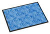 Watercolor Dark Blue Winter Snowflakes Indoor or Outdoor Mat 24x36 BB7576JMAT by Caroline's Treasures