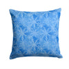 Watercolor Dark Blue Winter Snowflakes Fabric Decorative Pillow BB7576PW1414 by Caroline's Treasures