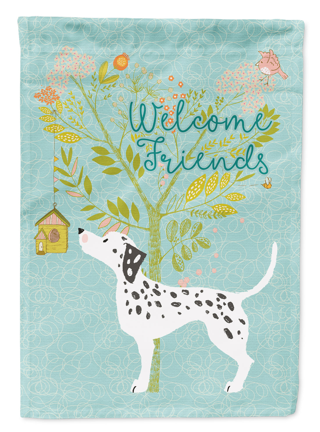 Welcome Friends Dalmatian Flag Canvas House Size BB7585CHF by Caroline's Treasures