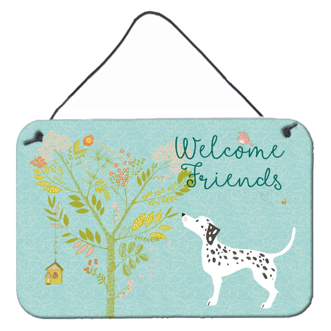 Welcome Friends Dalmatian Wall or Door Hanging Prints BB7585DS812 by Caroline's Treasures