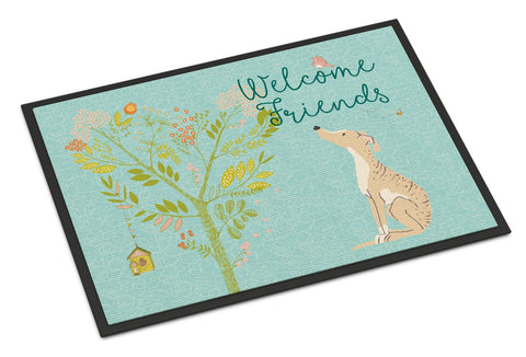 Buy this Welcome Friends Brindle Greyhound Indoor or Outdoor Mat 24x36 BB7591JMAT