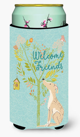 Buy this Welcome Friends Brindle Greyhound Tall Boy Beverage Insulator Hugger BB7591TBC