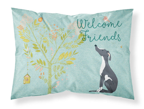 Buy this Welcome Friends Black White Greyhound Fabric Standard Pillowcase BB7592PILLOWCASE