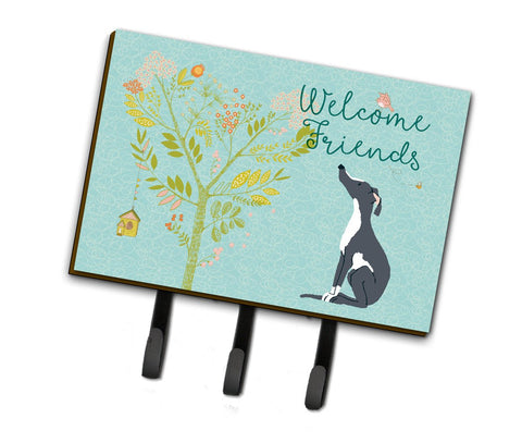 Buy this Welcome Friends Black White Greyhound Leash or Key Holder BB7592TH68