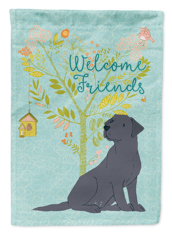 Buy this Welcome Friends Black Labrador Retriever Flag Canvas House Size BB7595CHF