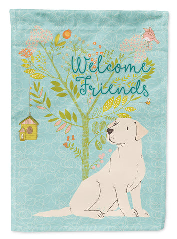 Buy this Welcome Friends Yellow Labrador Retriever Flag Canvas House Size BB7596CHF