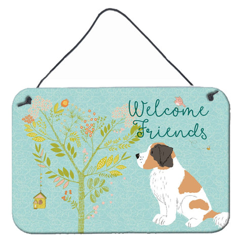 Buy this Welcome Friends Saint Bernard Wall or Door Hanging Prints BB7599DS812