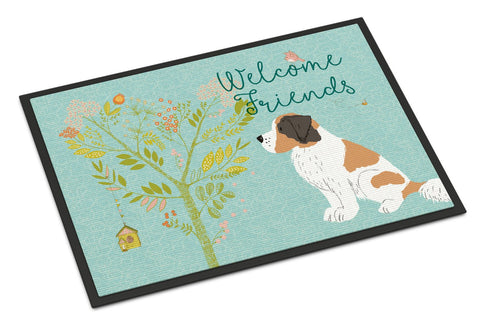 Buy this Welcome Friends Saint Bernard Indoor or Outdoor Mat 24x36 BB7599JMAT