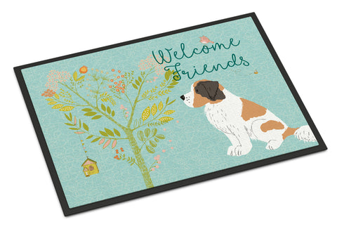 Buy this Welcome Friends Saint Bernard Indoor or Outdoor Mat 18x27 BB7599MAT