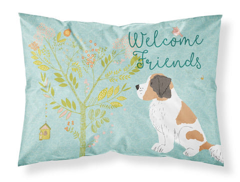 Buy this Welcome Friends Saint Bernard Fabric Standard Pillowcase BB7599PILLOWCASE