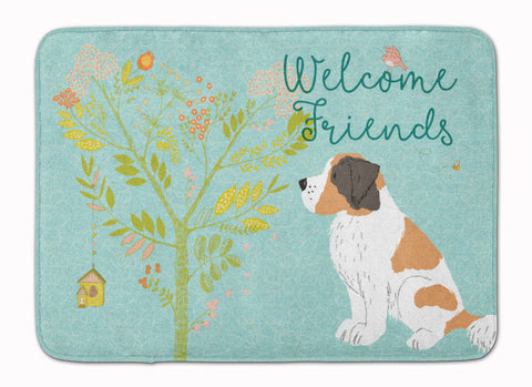 Buy this Welcome Friends Saint Bernard Machine Washable Memory Foam Mat BB7599RUG