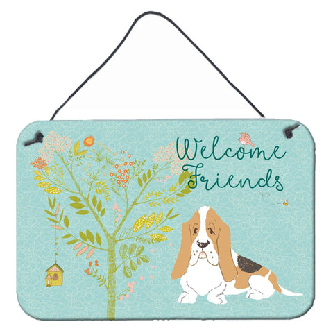 Buy this Welcome Friends Basset Hound Wall or Door Hanging Prints BB7600DS812