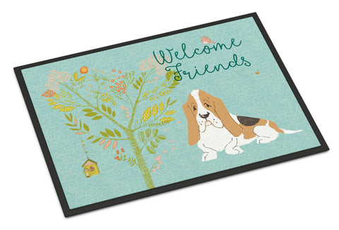 Buy this Welcome Friends Basset Hound Indoor or Outdoor Mat 18x27 BB7600MAT