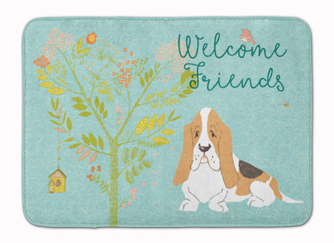 Buy this Welcome Friends Basset Hound Machine Washable Memory Foam Mat BB7600RUG