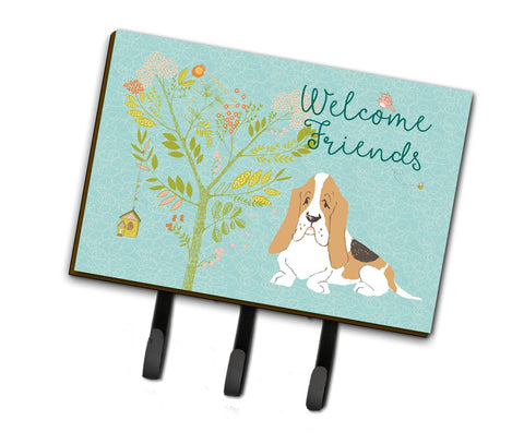 Buy this Welcome Friends Basset Hound Leash or Key Holder BB7600TH68