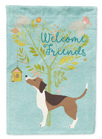 Buy this Welcome Friends Beagle Flag Canvas House Size BB7601CHF