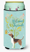 Welcome Friends Beagle Tall Boy Beverage Insulator Hugger BB7601TBC by Caroline's Treasures