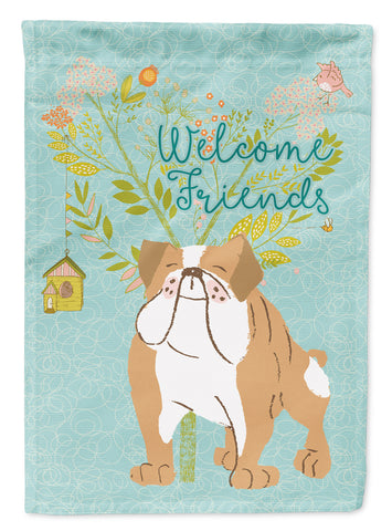 Buy this Welcome Friends English Bulldog Flag Canvas House Size BB7602CHF