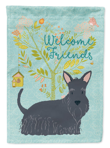 Buy this Welcome Friends Scottish Terrier Flag Canvas House Size BB7616CHF