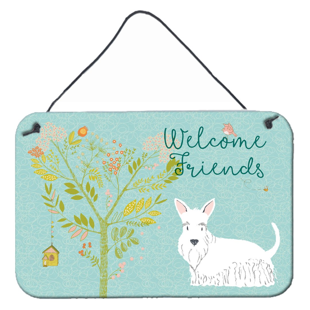 Buy this Welcome Friends White Scottish Terrier Wall or Door Hanging Prints