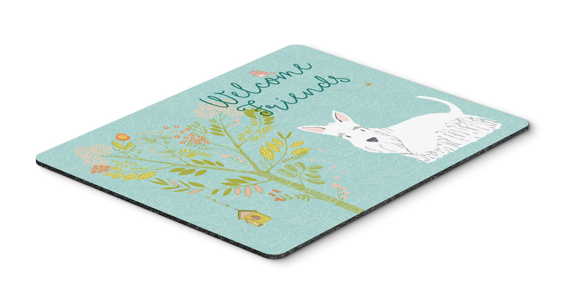 "Buy this ""Welcome Friends White Scottish Terrier Mouse Pad, Hot Pad or Trivet"""