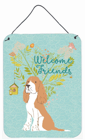 Buy this Welcome Friends Gold Springer Spaniel Wall or Door Hanging Prints BB7620DS1216