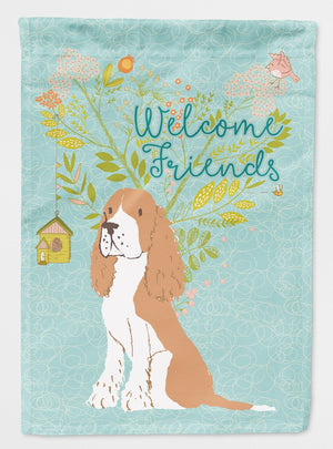 Buy this Welcome Friends Gold Springer Spaniel Flag Garden Size BB7620GF