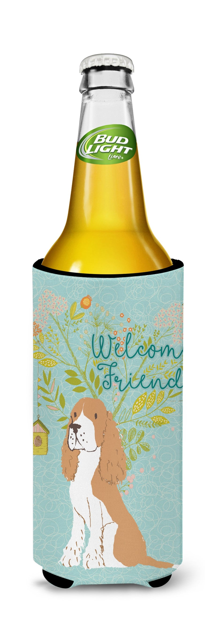 Buy this Welcome Friends Gold Springer Spaniel Michelob Ultra Hugger for slim cans BB7620MUK