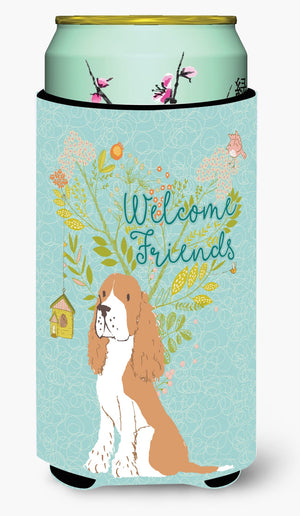 Buy this Welcome Friends Gold Springer Spaniel Tall Boy Beverage Insulator Hugger BB7620TBC