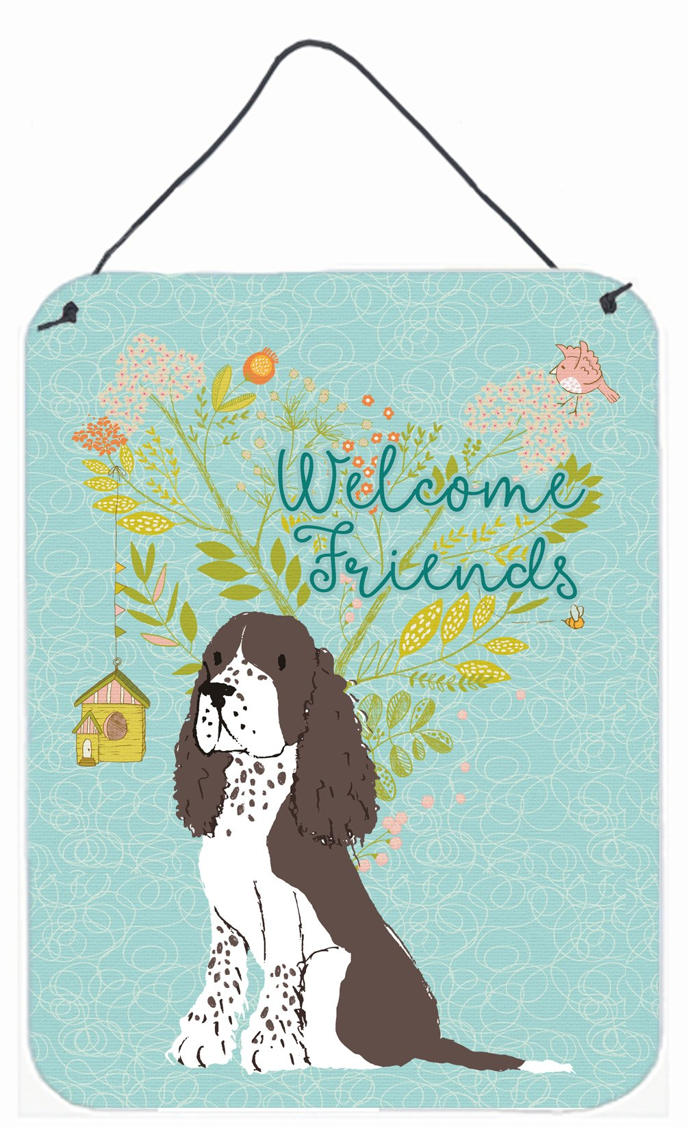 Buy this Welcome Friends Brown Springer Spaniel Wall or Door Hanging Prints BB7622DS1216