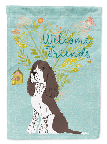 Buy this Welcome Friends Brown Springer Spaniel Flag Garden Size BB7622GF