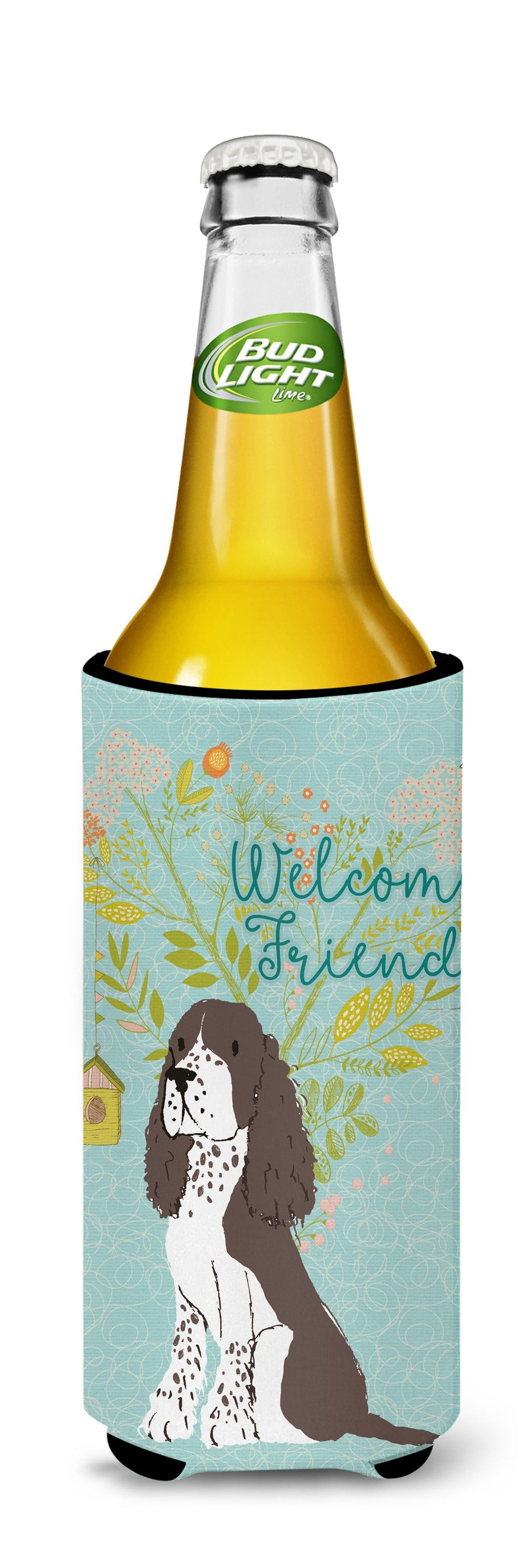 Buy this Welcome Friends Brown Springer Spaniel Michelob Ultra Hugger for slim cans BB7622MUK