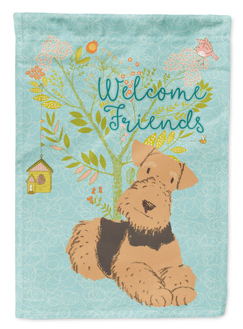 Buy this Welcome Friends Airedale Terrier Flag Canvas House Size BB7625CHF