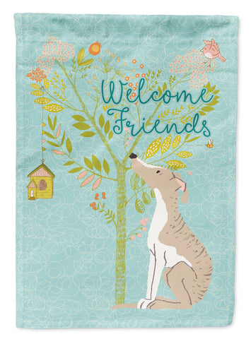 Buy this Welcome Friends Whippet Flag Canvas House Size BB7626CHF