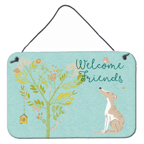 Buy this Welcome Friends Whippet Wall or Door Hanging Prints BB7626DS812