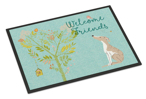 Buy this Welcome Friends Whippet Indoor or Outdoor Mat 24x36 BB7626JMAT