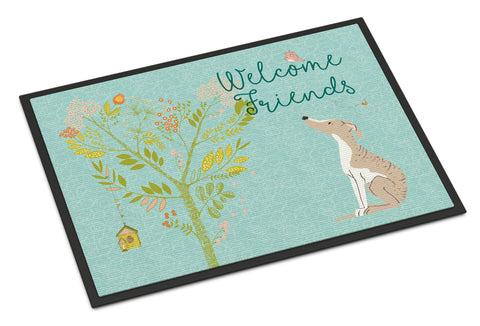 Buy this Welcome Friends Whippet Indoor or Outdoor Mat 18x27 BB7626MAT