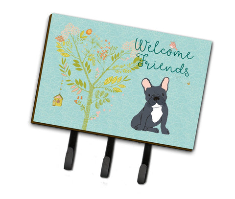 Buy this Welcome Friends Black French Bulldog Leash or Key Holder BB7632TH68