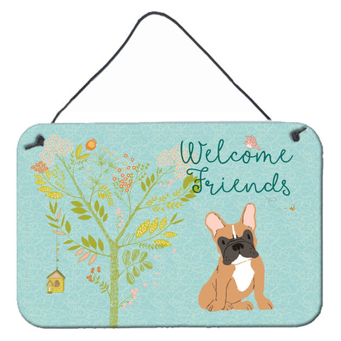 Buy this Welcome Friends Fawn French Bulldog Wall or Door Hanging Prints BB7633DS812