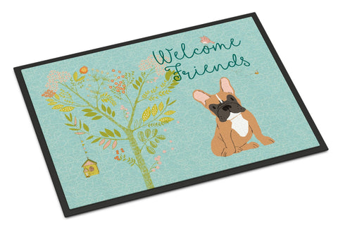 Buy this Welcome Friends Fawn French Bulldog Indoor or Outdoor Mat 24x36 BB7633JMAT