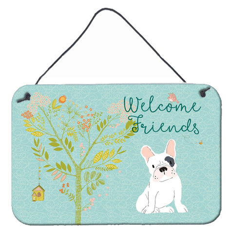 Buy this Welcome Friends Piebald French Bulldog Wall or Door Hanging Prints BB7634DS812