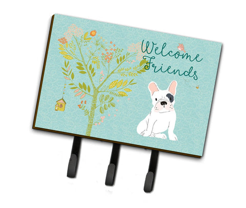 Buy this Welcome Friends Piebald French Bulldog Leash or Key Holder BB7634TH68