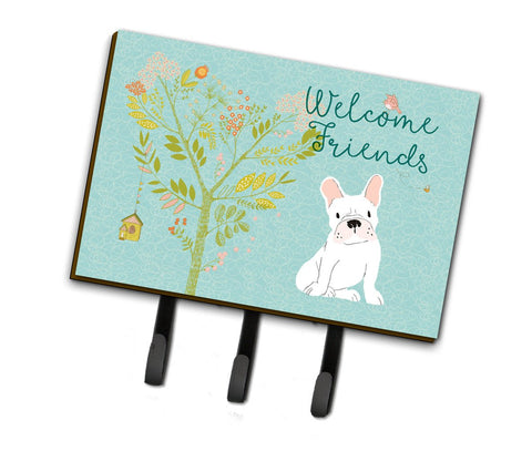 Buy this Welcome Friends White French Bulldog Leash or Key Holder BB7635TH68