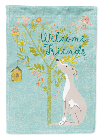 Buy this Welcome Friends Italian Greyhound Flag Canvas House Size BB7636CHF